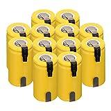 Anmas Power Batterie ricaricabili Sub C SC 1,2V, 1300mAh, al nichel-cadmio (Ni-Cd), con rubinetto