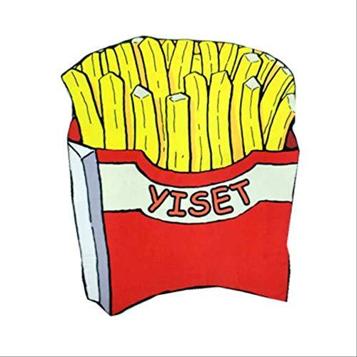 ASYPJP Strandtuch Runde Bedruckte Badetuch, Schal Handtuch.Handtuchmaterial 285G Pommes Frites -