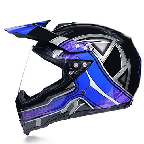 OLEEKA Motorradhelm Motocross Offroad Helm Moto Casco Herren Integralhelm Motocross Racing Motorradhelme DOT