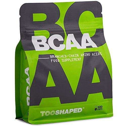 BCAA Kapseln 8:1:1 - Essentielle Aminosäuren für Muskelaufbau und Regeneration nach dem Sport - 120 vegane Kapseln von TOOSHAPED
