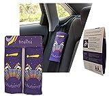 tinalina® 2x Schutzengel Einhorn Gurtpolster Auto Gurtschutz Sicherheitsgurt Schulterpolster Schulterkissen Autositze Fahrradsitz Gurtpolster für Mädchen Kinder