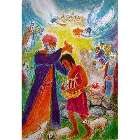Ira Moskowitz–'bendición'–gran mano firmado y numerados Litografía–c1980s (judío artista; Marc Chagall
