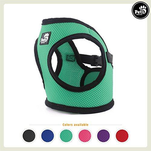 Pets&Partner Hundegeschirr Soft Air Mesh Weste in Verschiedenen Farben für Kleine bis mittelgroße Hunde, XS, Grün