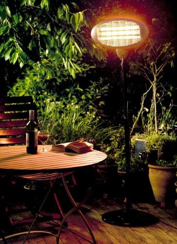 firefly 2kw freestanding water resistant infared electric garden outdoor indoor patio heater 3. Black Bedroom Furniture Sets. Home Design Ideas