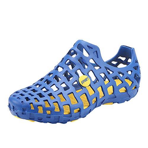 FRAUIT Klassische Sandalen Damen/Herren Unisex Mesh Regen Stiefel Watschuhe Casual Schuhe Paar Strand Sandale Flip Flops Schuhe Schuhe hohlen EIN Fußloch Schuhe Strand Sandalen