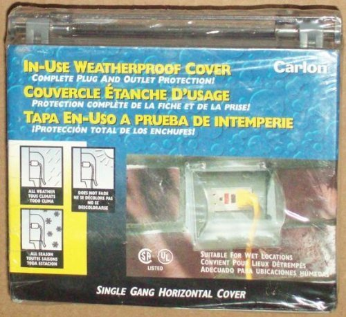 Carlon In-Use Weatherproof Cover, Single Gang Horizontal Cover, Good for GFCI or Duplex Faceplate by Weatherproof Cover for GFCI or Duplex