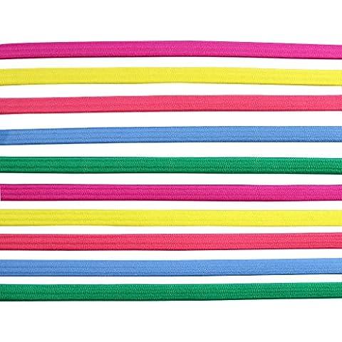 KurtzyTM Confezione da 10 Fasce Elastiche Colorate per Capelli per