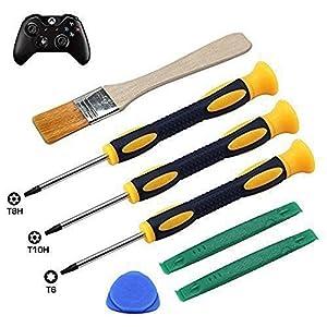 T8H T6 T10H Schraubendreher-Set für Xbox One Xbox 360 Controller und PS3 PS4, sicheres Hebelwerkzeug und Reinigungsbürste