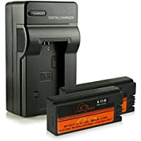 Caricatore + 2x ExtremeWolf Batteria NP-FC10 / NP-FC11 per Sony