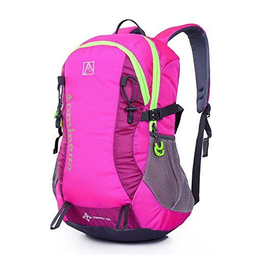 Wewod Hot alpinismo borsa Contrasto Colore Sport all' aperto borsa zaino da viaggio, donna Uomo Bambino, blu rosa