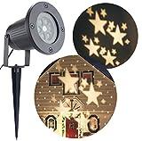 Bloomwin Projecteur Exterieur LED Blanc chaud Déplacer les étoiles étanche à l'eau IP65 LED Lampe de Projecteur Lumière extérieur intérieur Noël/ Party / Anniversaire