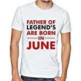 Casotec Father Of Legends Are Born In June Custom Printed Designer Polyester Sports Round Neck T-Shirt
