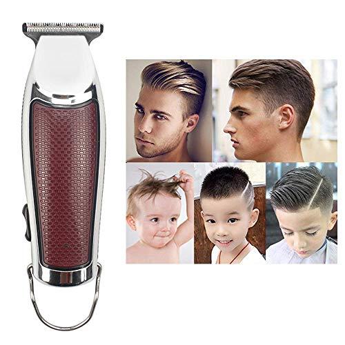 Xihide Mini Tragbar Haartrimmer Schneiden Maschine Bart Barbier Rasierer zum Männer Stil Werkzeuge Elektrisch Hair Clipper,Silver
