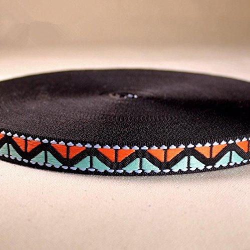 1,5 CM gemischte Farben schwarze Wellenmuster, Band-dekorative Accessoires/Schmuck-Zubeh?r