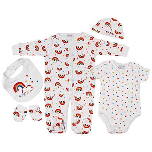 Presents Gifts For Newborn Baby Boys Girls Toddler Unisex Cute Clothing Sets Newborn Newborn Outfits Bundles Pack Rainbow Stars First Christmas Xmas Christening From Aunty Uncle Grandma