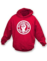 PunkFootball Kettering Town Keep the Faith Hooded Sweatshirt XX-Large, Color Red