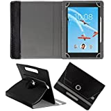 Fastway Rotating 360° Leather Flip Case For Lenovo Tab 4 8 Plus 16 GB 8 Inch With Wi-Fi+4G Tablet Black