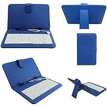 REALMAX® Tastiera USB/Micro supporto custodia in pelle PU per Tablet Android da 7pollici A13Q88regalo