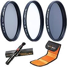 52MM UV CPL ND4 - K&F Concept 52MM Filtro Kit UV Protector Polarizador Circular Filtro Densidad Neutra Filtro para Canon Nikon Cámaras + Pluma de Limpieza + Bolsa de Filtro