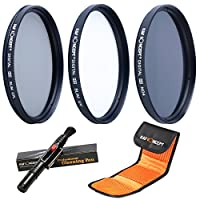 K&F Concept 58mm Filtro UV ND4 CPL 58mm Kit Filtros (Filtro UV 58mm, 58m...
