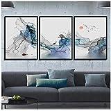 WangZhuanYun Moderb Abstrakte Cartoon Serie Niedliche Gemälde auf Leinwand Nordische Drucke und Poster Dekoration Bergbilder für Zimmer (3 Stücke 50x70 cm Kein Rahmen)