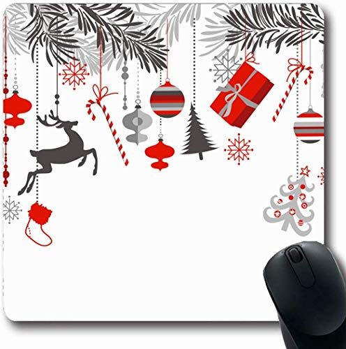 Mousepad Mousemat Lässige Check Orange Lumberjack Plaid Abstrakte Buffalo CheckeClassic Cold Flannel Design Form rutschfeste Gaming-Mausunterlage 25X30CM -