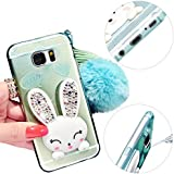 MOMDAD Transparente Coque Samsung Galaxy S7 Edge TPU Coque avec Absorption de Choc Etui Silicone Case Pour Samsung Galaxy S7 Edge Cover Case Étui Housse TPU Silicone Gel Étui Housse Protection Shell Cover Case avec Bling Diamant Hull-Vert