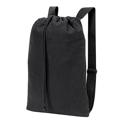Shugon 5897–10Sheffield Baumwolle Kordelzug Rucksack Tasche, Schwarz Washed