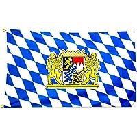 King de etiqueta de la bandera de Estado libre de Baviera bandera de León No, multicolor, 150x 90x 1cm, 16995