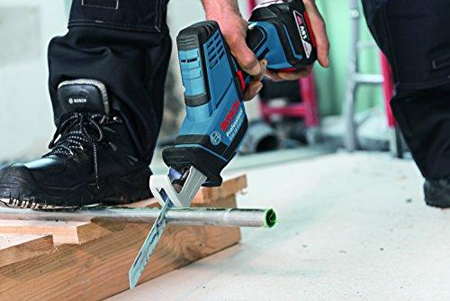 Bosch Professional Akku Säbelsäge GSA 18 V-LI C (2x 5,0 Ah Akku, Ladegerät, 3x Sägeblatt, L-Boxx, Schnitttiefe in Holz/Stahl: 200 mm/16 mm, 18 Volt) - 6