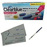 Clearblue Pregnancy Test Double Check And Date kit + 1 x One Step® Pregnancy Test - 3 Test Pack