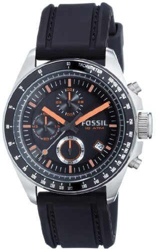 Fossil Womens Chronograph Quartz Watch with Silicone Strap CH2647