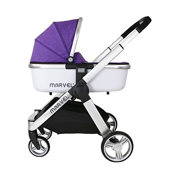 Marvel Carrycot - Monaco Maroon iSafe Luxury Carrycot Suitable For The iSafe Marvel Pram (Chassis & Wheels Are NOT Included) Easy Fit, Unique Design Complete With Free Boot Cover 2