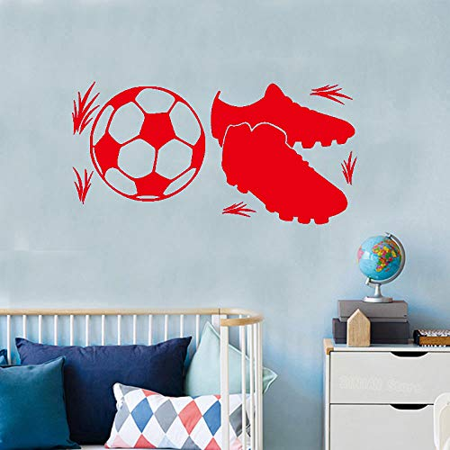 Fußballschuhe Wandaufkleber Jungen Zimmer Fußball Dekoration Jugendliche Spielplatz Poster Vinyl Kunst Design Aufkleber ~ 1 42 * 84 cm (Airbrush Kunst Körper Malen)