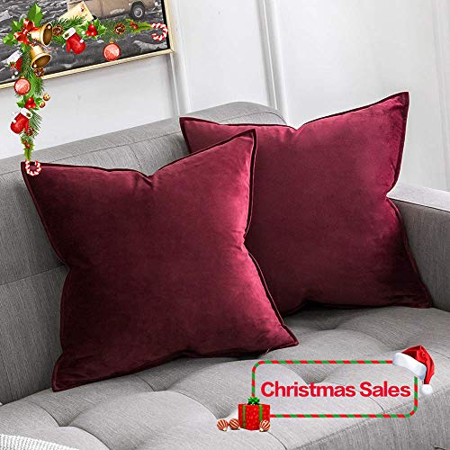 Miulee velluto morbido copricuscino decorativo flanger di federe per cuscini di lusso per salotto divano camera da letto con cerniera invisibile 18
