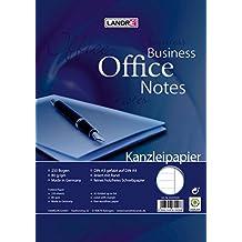 LANDRE 100050622 Kanzleipapier Office 250 Kanzleibogen liniert mit weißen Rand 80 g/m² holzfreies Papier - Ideal für Schule und Büro