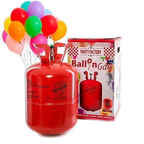 Party Factory Ladenburg Helium Flasche für 50 Luftballons inkl. 50 Party Ballons