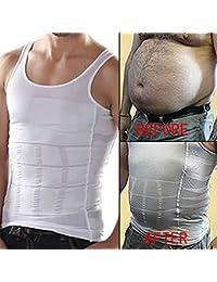 Size S Men Gents Weight Loss Slim & Lift Slimming Shirt Waist Belt Body Shaper – 07