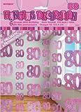 Glitzer-Deko, Zahl 80, in Pink, 6-teilig, je 152,4cm lang