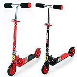 Ferrari ® Kinderroller Cityroller Scooter schwarz Höhenverstellbar Faltbar klappbar ABEC5