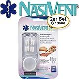 Nasivent Tube Plus - Anti Schnarch Mittel (Mit Aufbewahrungsdose) - Größe S/8mm - 2er Pack - Einfach Besser Atmen - Mit patentiertem Haltezapfen
