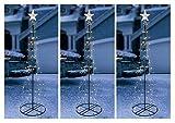 3 x 180cm LED Weihnachtsbaum Fahnenmast Lichterkette Lichterschlauch Weihnachten