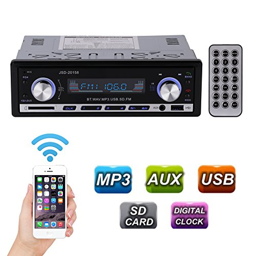 GHB Radio de Coche Bluetooth Auto Radio AM FM USB MP3 Audio Estéreo In-Dash WMA APE FLAC WAV Pantalla LCD Bluetooth Manos Libres