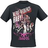 Aerosmith Aero-Vederci Baby Tour 2017 T-Shirt Black