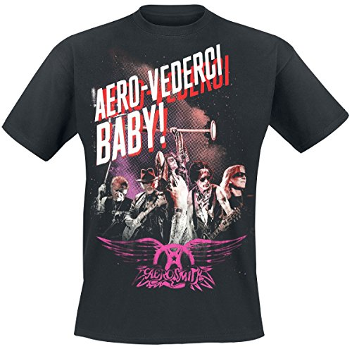 Aerosmith Aero-Vederci Baby Tour 2017 T-Shirt Schwarz XXL (Shirt Aero)
