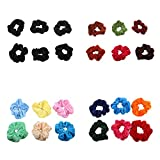 #5: Accessher Velvet Hair Ties Combo Pack Of 24