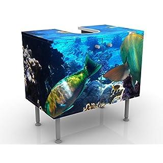 Apalis 53482 Waschbeckenunterschrank Underwater Dreams, 60 x 55 x 35 cm
