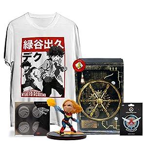 WOOTBOX Defense - Caja de Regalo - My Hero Academia - Capitán Marvel - Overwatch - Juego de Tronos - Talla WTB-2019-005-FR-00F-000M-000, Color Negro