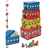 Lebez–Set 4boîtes, modèle Niji School Bus, multicolore, Taille unique