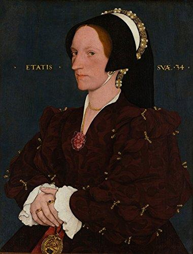 Das Museum Outlet-Portrait Of Margaret Wyatt, Lady Lee. 1540, gespannte Leinwand Galerie verpackt. 50,8x 71,1cm